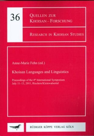 Khoisan Languages and Linguistics