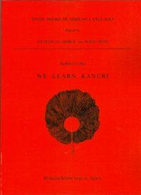 We learn Kanuri (Cover)