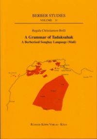 A Grammar of Tadaksahak (Cover)