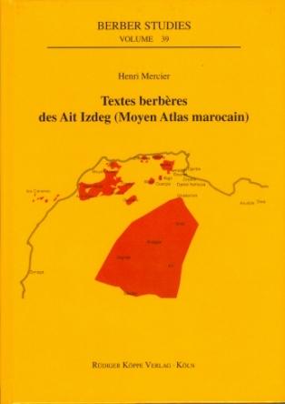 Textes berbères des Ait Izdeg (Cover)