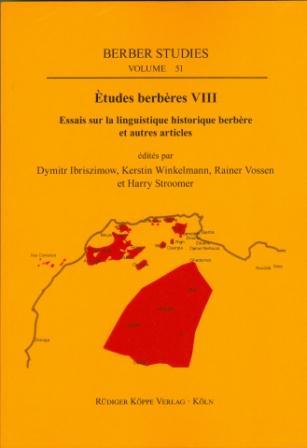 Études berbères VIII – Essais sur la linguistique historique berbère et autres articles (Cover)