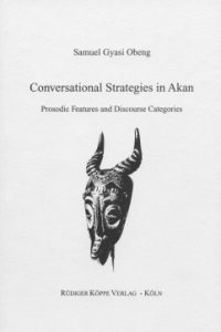 Conversational Strategies in Akan (Cover)