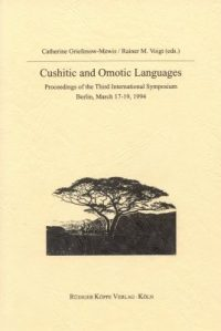 Cushitic and Omotic Languages (Cover)