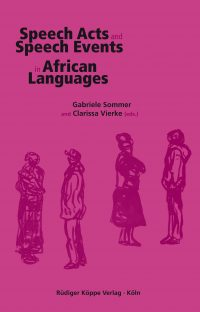 Speech Acts and Speech Events in African Languages (cover)