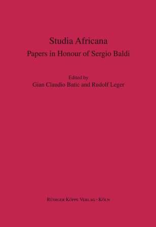Festschrift für Sergio Baldi Studia Africana (Cover)