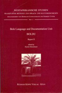 Bole Language and Documentation Unit (Cover)