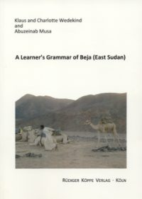 A Learner's Grammar of Beja (East Sudan) (Cover)