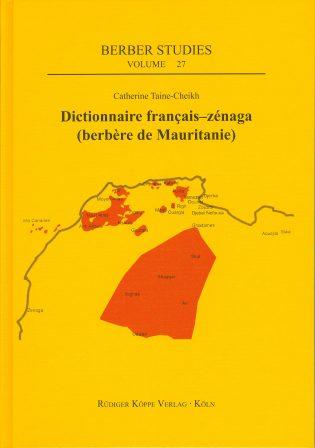 Dictionnaire français–zénaga(Cover)