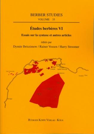Études berbères VI – Essais sur la syntaxe et autres articles (Cover)