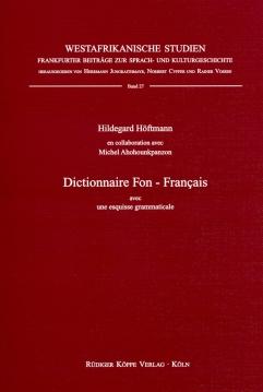 Dictionnaire Fon–Français (Cover)