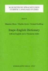 Iraqw-English Dictionary (Cover)