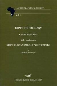 Khwe Dictionary (Cover)