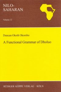 A Functional Grammar of Dholuo (Cover)