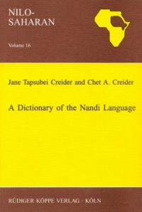 A Dictionary of the Nandi Language (Cover)