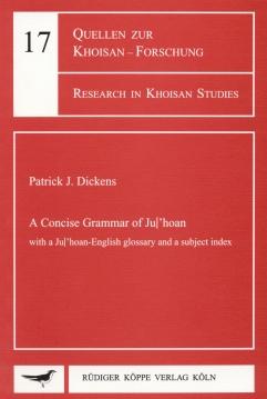 A Concise Grammar of Ju 'hoan