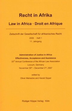 Administration of Justice in Africa – Effectiveness, Acceptance and Assistance (Cover)