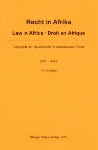 Recht in Afrika · Law in Africa · Droit en Afrique (Cover)