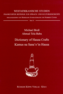 Dictionary of Hausa Crafts / Kamus na Sana'o'in Hausa (Cover)