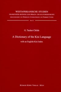 A Dictionary of the Kisi Language (Cover)