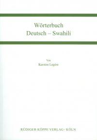 Wörterbuch Deutsch-Swahili (Cover)